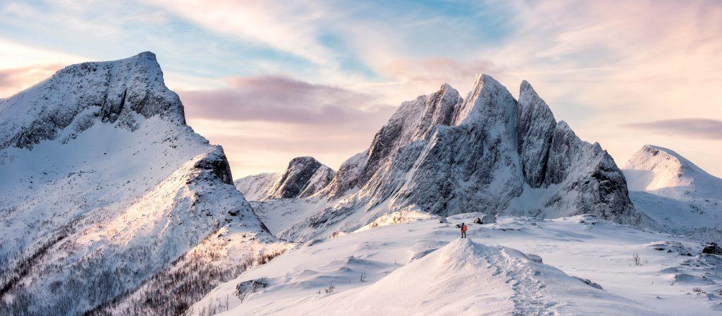 Snow mountains view