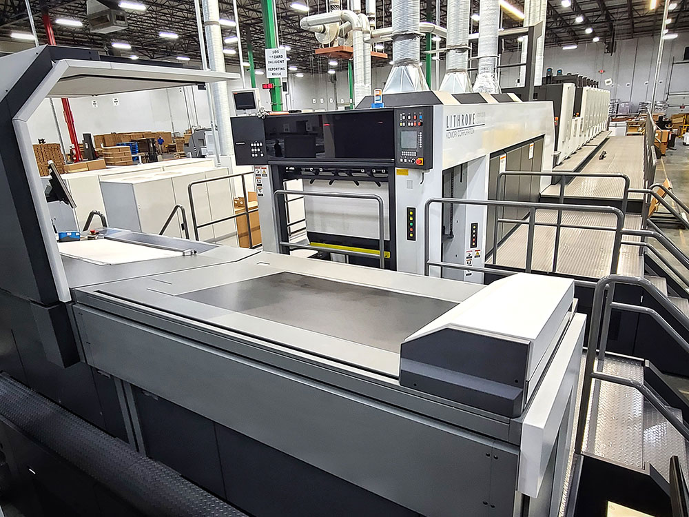 PaperWorks Komori GLX740 press